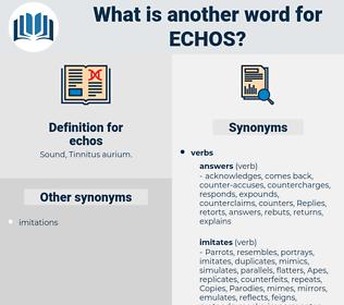 echos, synonym echos, another word for echos, words like echos, thesaurus echos