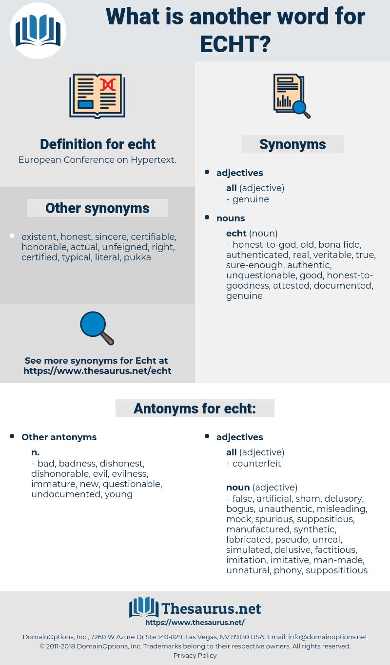 echt, synonym echt, another word for echt, words like echt, thesaurus echt