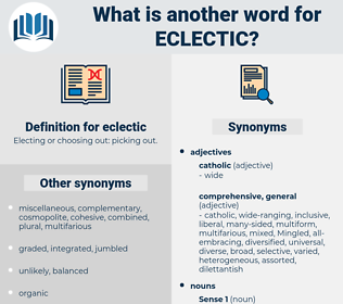 eclectic, synonym eclectic, another word for eclectic, words like eclectic, thesaurus eclectic