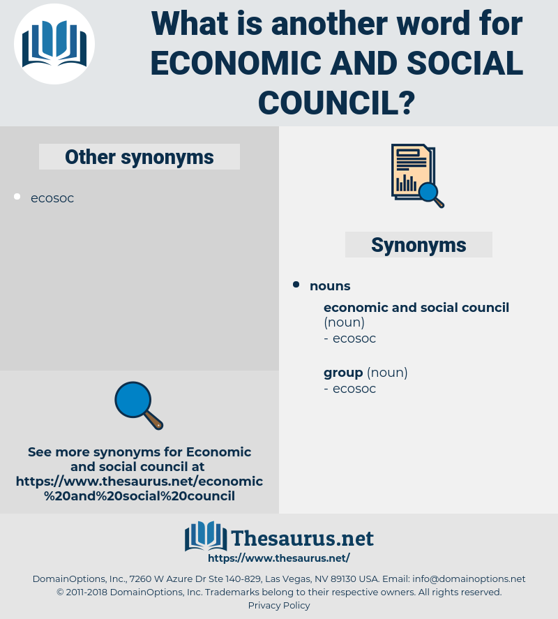 economic and social council, synonym economic and social council, another word for economic and social council, words like economic and social council, thesaurus economic and social council