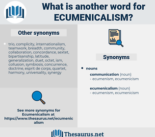 ecumenicalism, synonym ecumenicalism, another word for ecumenicalism, words like ecumenicalism, thesaurus ecumenicalism