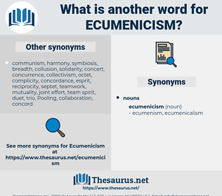 ecumenicism, synonym ecumenicism, another word for ecumenicism, words like ecumenicism, thesaurus ecumenicism