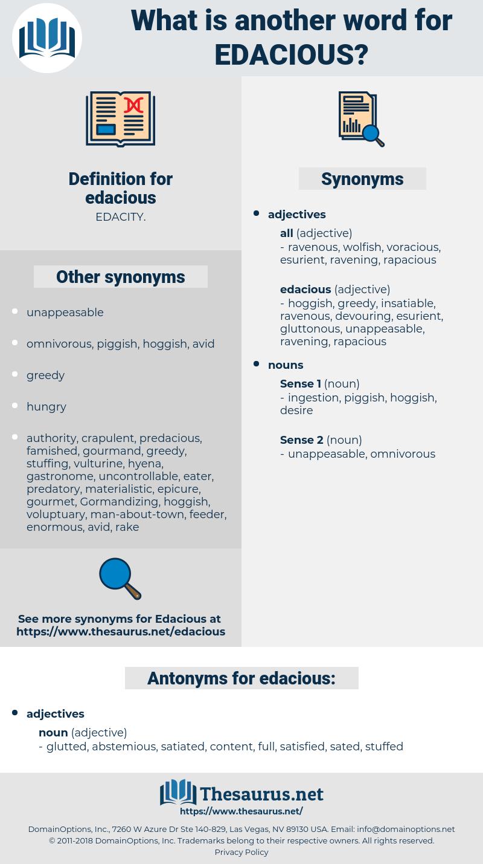 edacious, synonym edacious, another word for edacious, words like edacious, thesaurus edacious