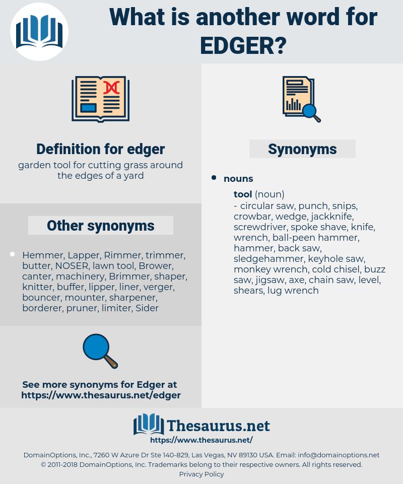 edger, synonym edger, another word for edger, words like edger, thesaurus edger