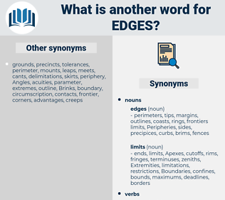 edges, synonym edges, another word for edges, words like edges, thesaurus edges