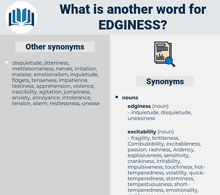 edginess, synonym edginess, another word for edginess, words like edginess, thesaurus edginess