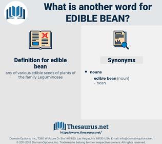 edible bean, synonym edible bean, another word for edible bean, words like edible bean, thesaurus edible bean