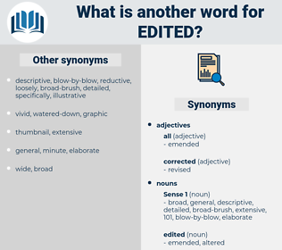 edited, synonym edited, another word for edited, words like edited, thesaurus edited