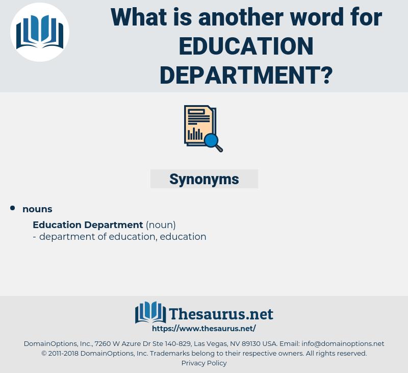 education department, synonym education department, another word for education department, words like education department, thesaurus education department