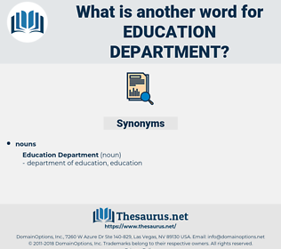 education department, synonym education department, another word for education department, words like education department, thesaurus education department