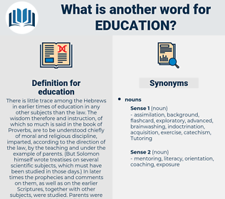 education, synonym education, another word for education, words like education, thesaurus education