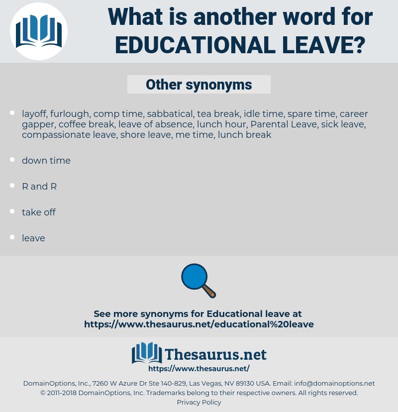 educational leave, synonym educational leave, another word for educational leave, words like educational leave, thesaurus educational leave