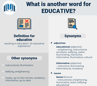 educative, synonym educative, another word for educative, words like educative, thesaurus educative
