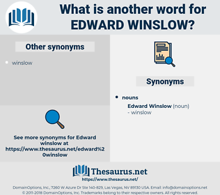 Edward Winslow, synonym Edward Winslow, another word for Edward Winslow, words like Edward Winslow, thesaurus Edward Winslow