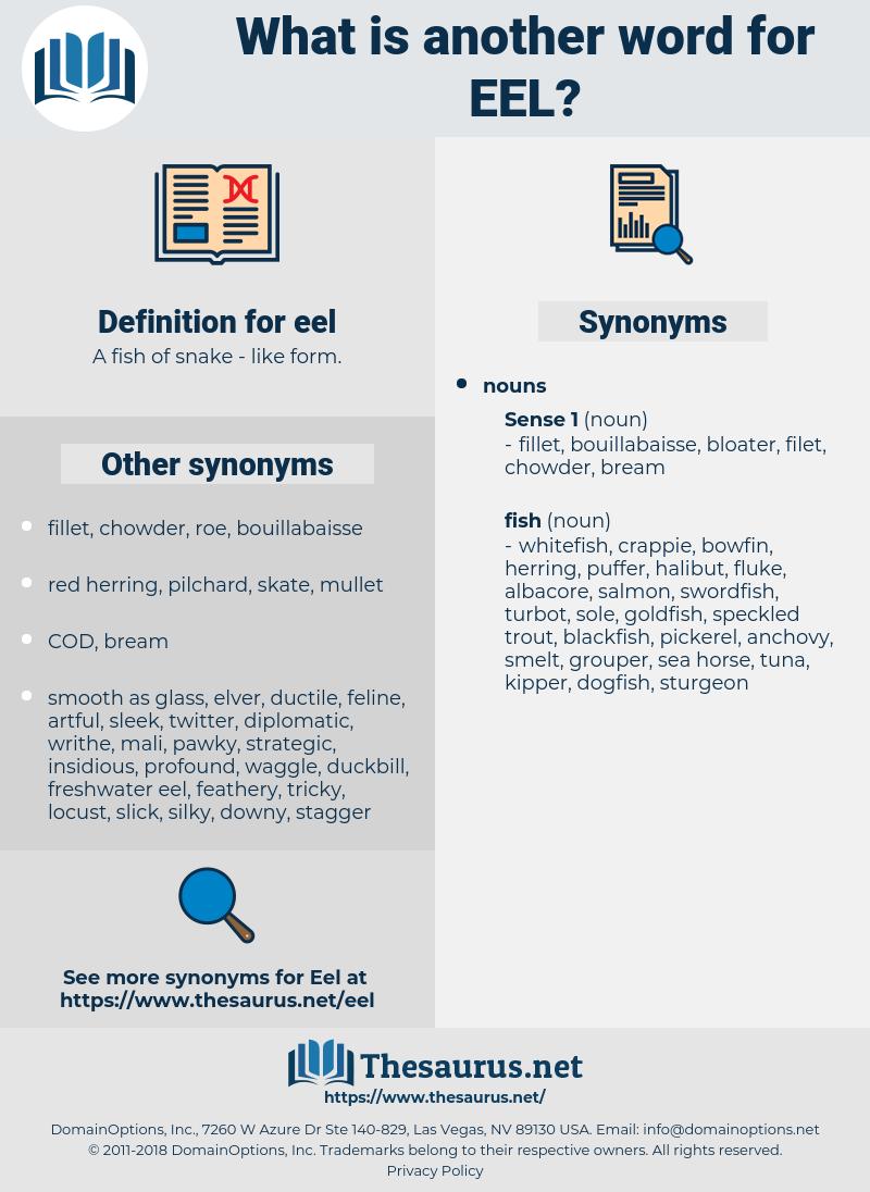 eel, synonym eel, another word for eel, words like eel, thesaurus eel
