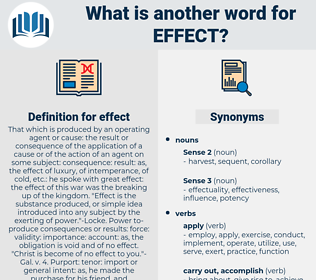 effect, synonym effect, another word for effect, words like effect, thesaurus effect