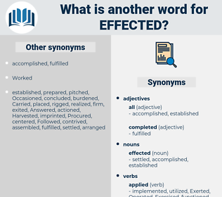 effected, synonym effected, another word for effected, words like effected, thesaurus effected