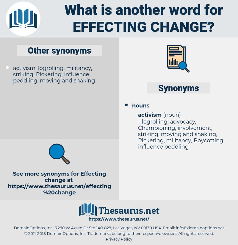 effecting change, synonym effecting change, another word for effecting change, words like effecting change, thesaurus effecting change