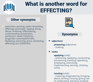 Effecting, synonym Effecting, another word for Effecting, words like Effecting, thesaurus Effecting