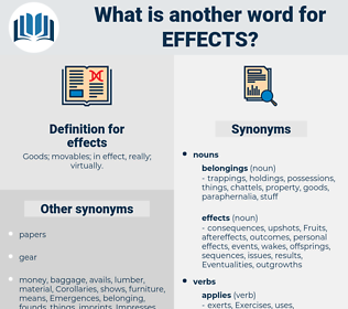 effects, synonym effects, another word for effects, words like effects, thesaurus effects