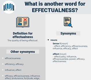effectualness, synonym effectualness, another word for effectualness, words like effectualness, thesaurus effectualness