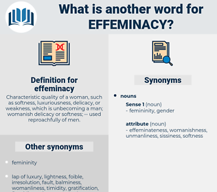 effeminacy, synonym effeminacy, another word for effeminacy, words like effeminacy, thesaurus effeminacy