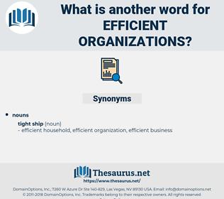 efficient organizations, synonym efficient organizations, another word for efficient organizations, words like efficient organizations, thesaurus efficient organizations