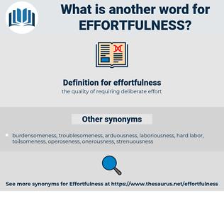 effortfulness, synonym effortfulness, another word for effortfulness, words like effortfulness, thesaurus effortfulness