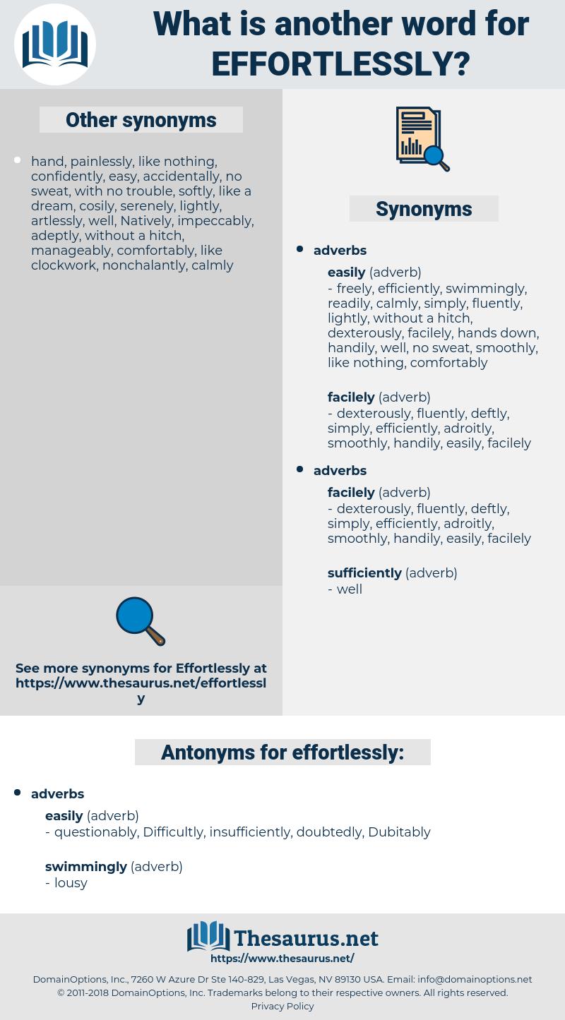 effortlessly, synonym effortlessly, another word for effortlessly, words like effortlessly, thesaurus effortlessly