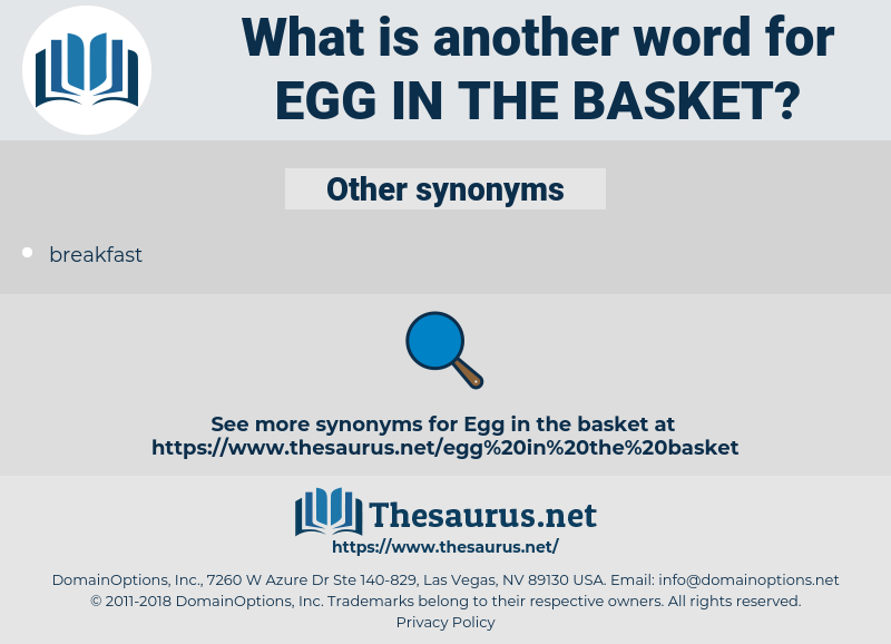 egg in the basket, synonym egg in the basket, another word for egg in the basket, words like egg in the basket, thesaurus egg in the basket