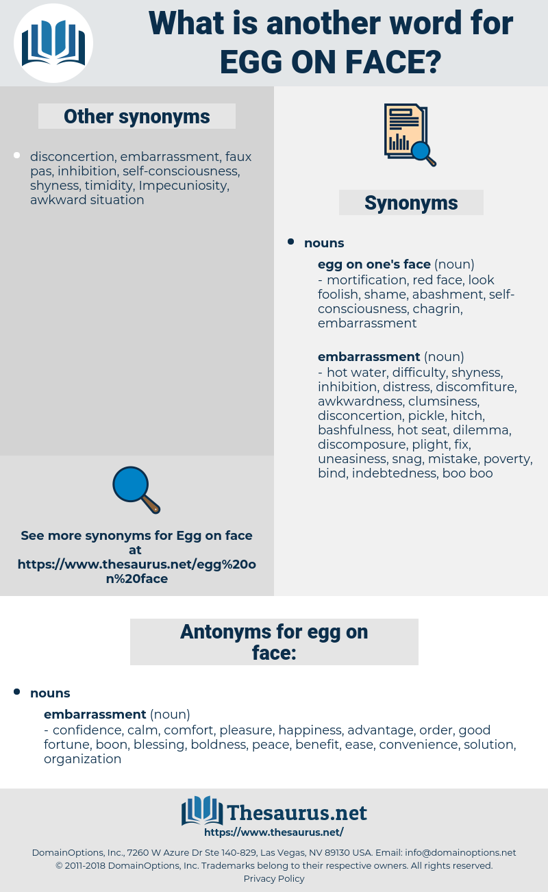 egg on face, synonym egg on face, another word for egg on face, words like egg on face, thesaurus egg on face