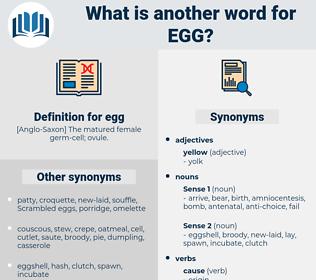 egg, synonym egg, another word for egg, words like egg, thesaurus egg