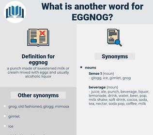 eggnog, synonym eggnog, another word for eggnog, words like eggnog, thesaurus eggnog