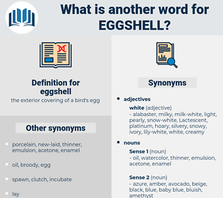 eggshell, synonym eggshell, another word for eggshell, words like eggshell, thesaurus eggshell