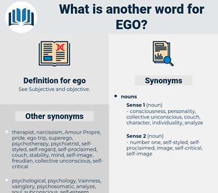 ego, synonym ego, another word for ego, words like ego, thesaurus ego