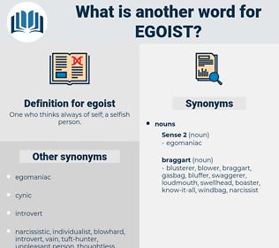 egoist, synonym egoist, another word for egoist, words like egoist, thesaurus egoist
