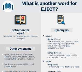 eject, synonym eject, another word for eject, words like eject, thesaurus eject