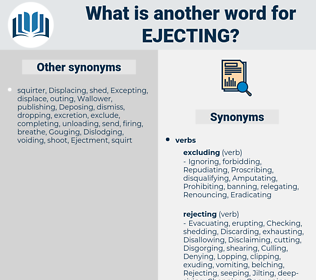 Ejecting, synonym Ejecting, another word for Ejecting, words like Ejecting, thesaurus Ejecting
