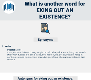 eking out an existence, synonym eking out an existence, another word for eking out an existence, words like eking out an existence, thesaurus eking out an existence