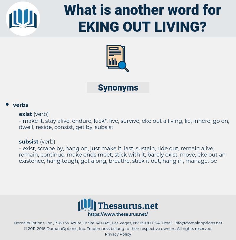 eking out living, synonym eking out living, another word for eking out living, words like eking out living, thesaurus eking out living