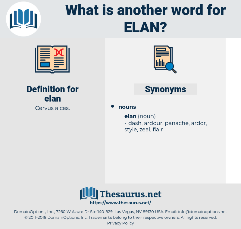 elan, synonym elan, another word for elan, words like elan, thesaurus elan