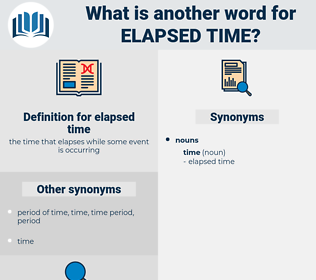 elapsed time, synonym elapsed time, another word for elapsed time, words like elapsed time, thesaurus elapsed time