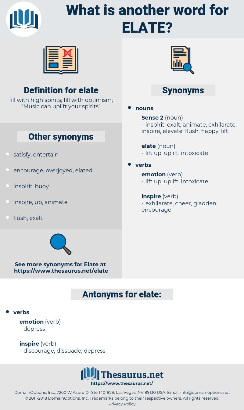 elate, synonym elate, another word for elate, words like elate, thesaurus elate