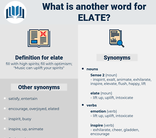 elate, synonym elate, another word for elate, words like elate, thesaurus elate
