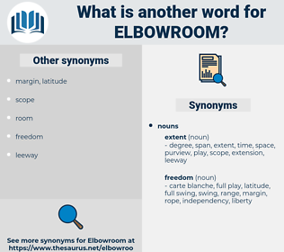 Elbowroom, synonym Elbowroom, another word for Elbowroom, words like Elbowroom, thesaurus Elbowroom