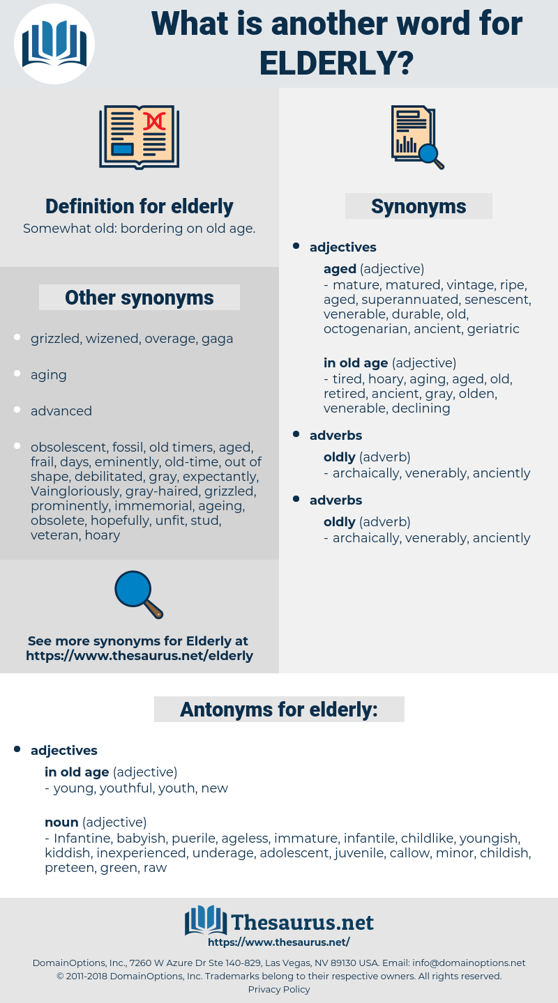 elderly, synonym elderly, another word for elderly, words like elderly, thesaurus elderly