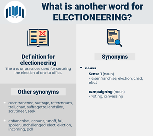 electioneering, synonym electioneering, another word for electioneering, words like electioneering, thesaurus electioneering