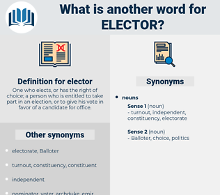 elector, synonym elector, another word for elector, words like elector, thesaurus elector