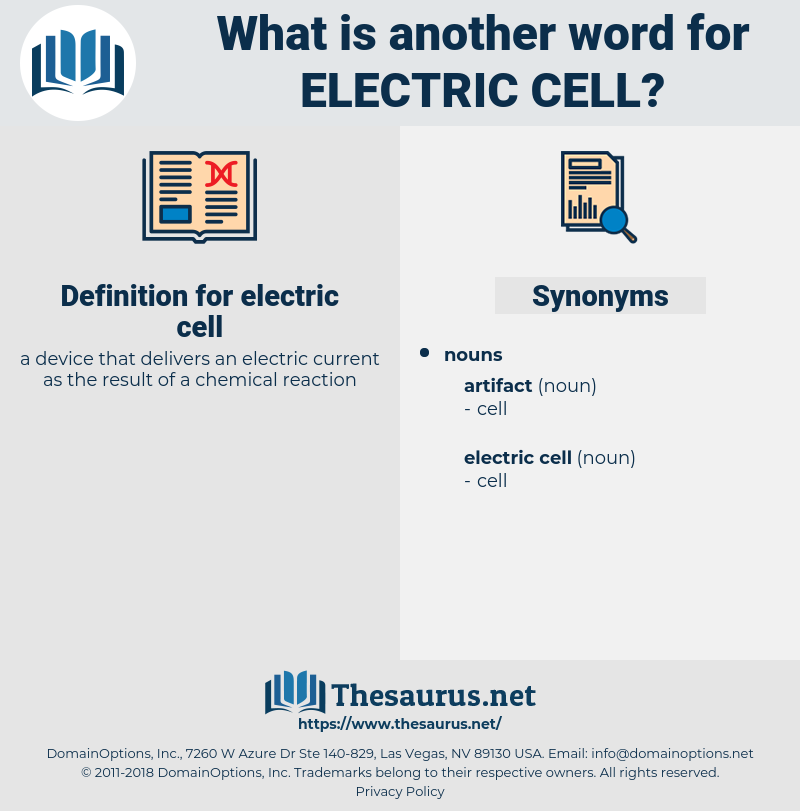 electric cell, synonym electric cell, another word for electric cell, words like electric cell, thesaurus electric cell