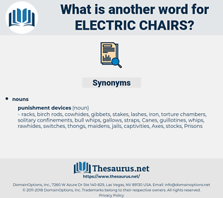 electric chairs, synonym electric chairs, another word for electric chairs, words like electric chairs, thesaurus electric chairs